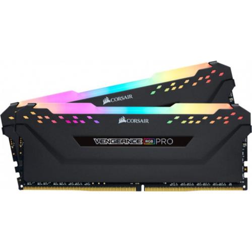 Модуль памяти Corsair Vengeance RGB PRO 32GB (2x16) DDR4 3200MHz (CMW32GX4M2C3200C16W)