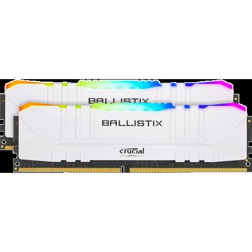 Модуль памяти Crucial Ballistix RGB White 32GB (2x16) DDR4 3200 MHz (BL2K16G32C16U4WL)
