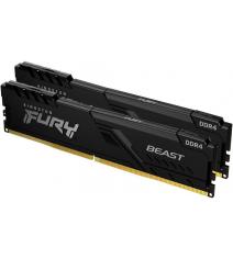 Модуль памяти Kingston HyperX Fury Beast Black 32Gb (2x16) DDR4 3000 MHz (KF430C16BBK2/32)