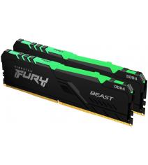 Kingston HyperX Fury Beast RGB 32Gb (2x16) DDR4 2666 MHz (KF426C16BBAK2/32)