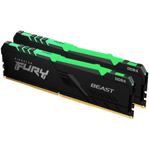 Kingston Fury Beast RGB 32Gb (2x16) DDR4 2666 MHz (KF426C16BBAK2/32)