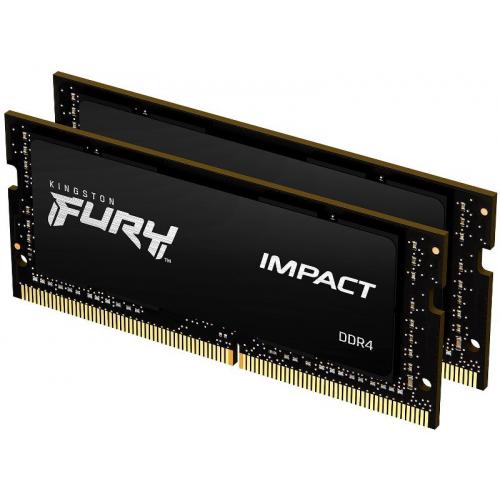 Модуль памяти Kingston Fury Impact SODIMM 32GB (2x16) DDR4 2666MHz (KF426S16IBK2/32)