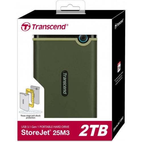 Жесткий диск Transcend StoreJet 25M3 2TB (TS2TSJ25M3G)