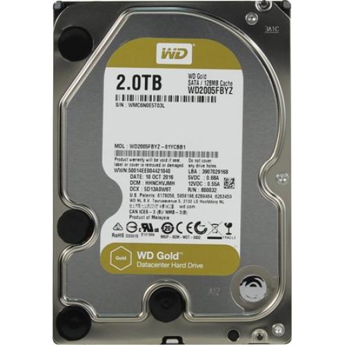 Жесткий диск Western Digital WD Gold 2TB (WD2005FBYZ)