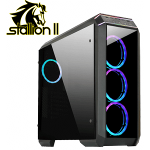 Корпус Chieftec Gaming Stallion II Tempered Glass Edition (GP-02B-OP)