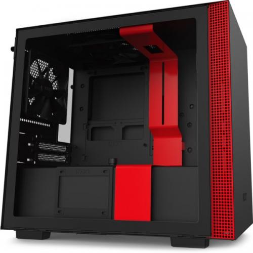 Корпус NZXT H210 Matte Black/Red (CA-H210B-BR)