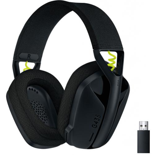 Гарнитура Logitech G435 Lightspeed Wireless Gaming Headset Black (981-001050)