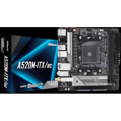 Материнская плата ASRock A520M-ITX/AC