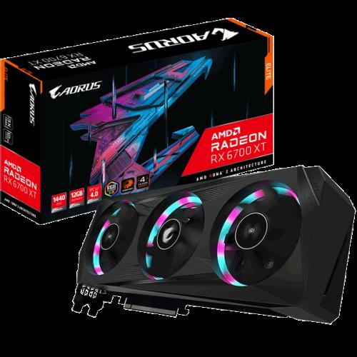 Видеокарта Gigabyte AORUS Radeon RX 6700 XT ELITE 12G (GV-R67XTAORUS E-12GD)