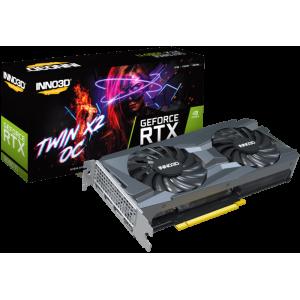 Видеокарта Inno3D GeForce RTX 3060 Ti TWIN X2 OC LHR (N306T2-08D6X-119032DH)
